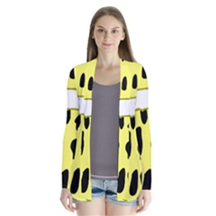 Leopard Polka Dot Yellow Black Cardigans
