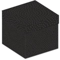 Oklahoma Circle Black Glitter Effect Storage Stool 12