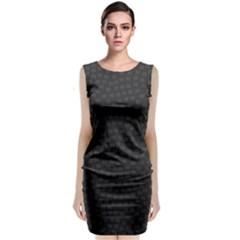 Oklahoma Circle Black Glitter Effect Sleeveless Velvet Midi Dress