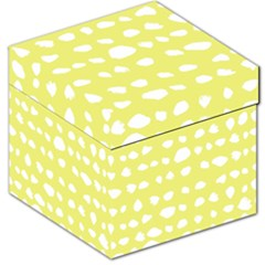 Polkadot White Yellow Storage Stool 12