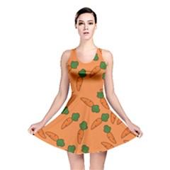 Carrot pattern Reversible Skater Dress