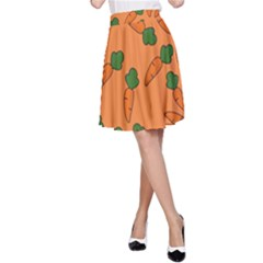 Carrot pattern A-Line Skirt