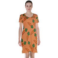 Carrot Pattern Short Sleeve Nightdress