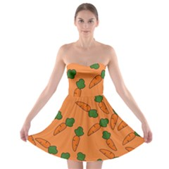 Carrot pattern Strapless Bra Top Dress