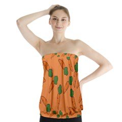 Carrot pattern Strapless Top