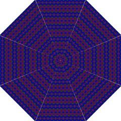 Split Diamond Blue Purple Woven Fabric Folding Umbrellas
