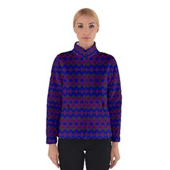 Split Diamond Blue Purple Woven Fabric Winterwear