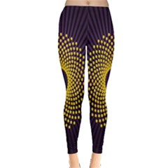 Polka Dot Circle Leaf Flower Floral Yellow Purple Red Star Leggings
