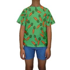 Carrot pattern Kids  Short Sleeve Swimwear