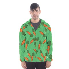 Carrot pattern Hooded Wind Breaker (Men)