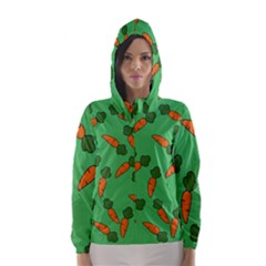 Carrot pattern Hooded Wind Breaker (Women)