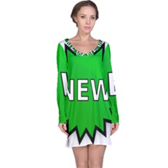 New Icon Sign Long Sleeve Nightdress