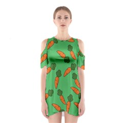 Carrot pattern Shoulder Cutout One Piece