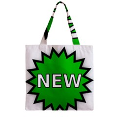 New Icon Sign Zipper Grocery Tote Bag
