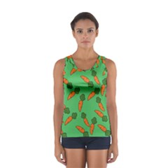 Carrot pattern Women s Sport Tank Top