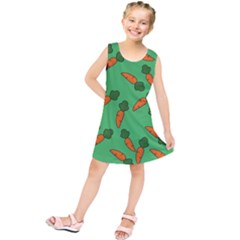 Carrot pattern Kids  Tunic Dress
