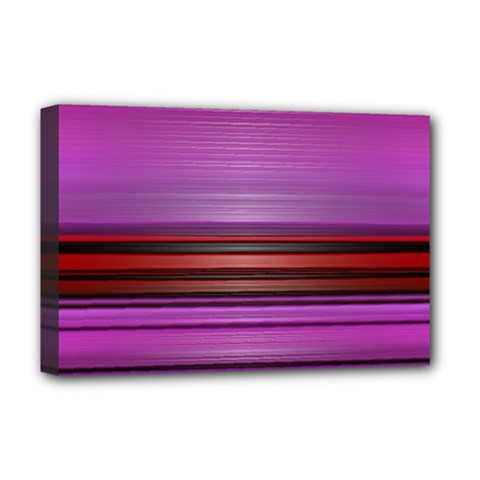 Stripes Line Red Purple Deluxe Canvas 18  x 12