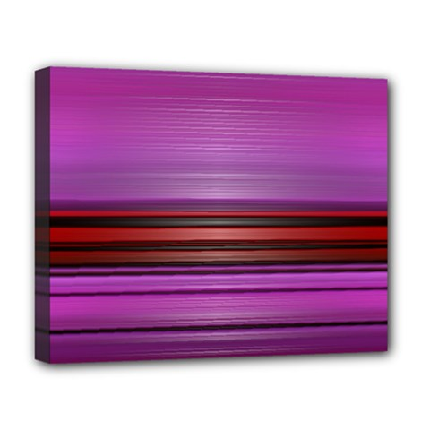 Stripes Line Red Purple Deluxe Canvas 20  x 16