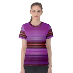 Stripes Line Red Purple Women s Cotton Tee