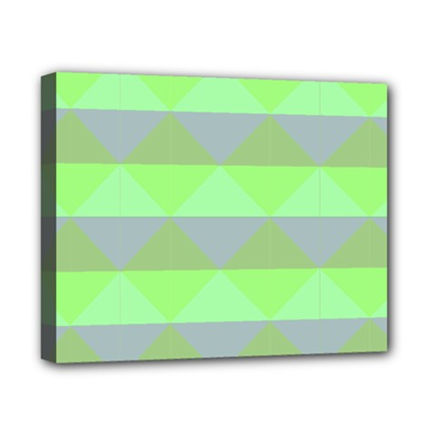 Squares Triangel Green Yellow Blue Canvas 10  x 8