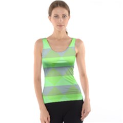 Squares Triangel Green Yellow Blue Tank Top