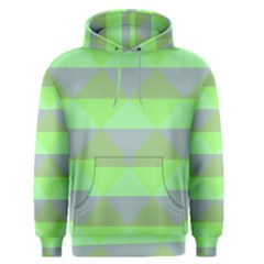 Squares Triangel Green Yellow Blue Men s Pullover Hoodie