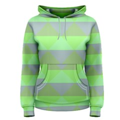 Squares Triangel Green Yellow Blue Women s Pullover Hoodie