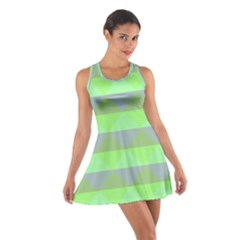 Squares Triangel Green Yellow Blue Cotton Racerback Dress