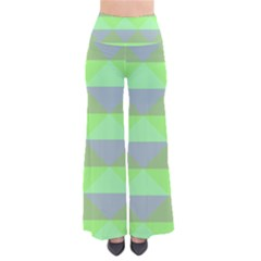 Squares Triangel Green Yellow Blue Pants