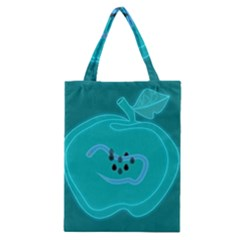 Xray Worms Fruit Apples Blue Classic Tote Bag