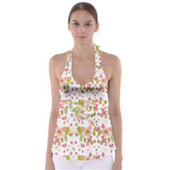 Floral pattern Babydoll Tankini Top