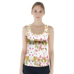 Floral pattern Racer Back Sports Top