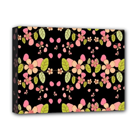 Floral pattern Deluxe Canvas 16  x 12