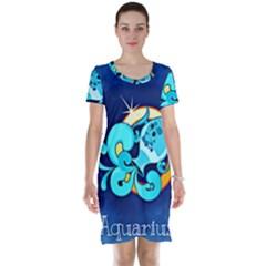 Zodiac Aquarius Short Sleeve Nightdress