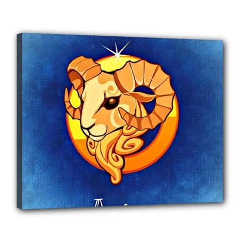 Zodiac Aries Canvas 20  x 16
