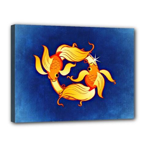 Zodiac Pisces Canvas 16  x 12
