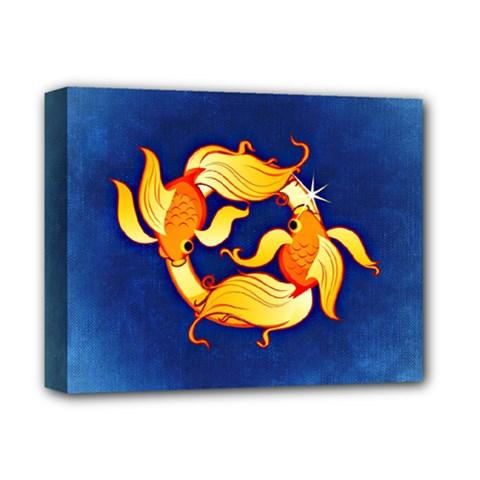 Zodiac Pisces Deluxe Canvas 14  x 11