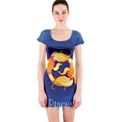 Zodiac Pisces Short Sleeve Bodycon Dress