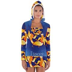Zodiac Pisces Women s Long Sleeve Hooded T-shirt