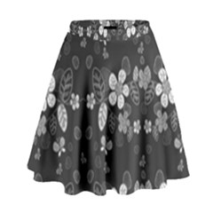 Floral pattern High Waist Skirt