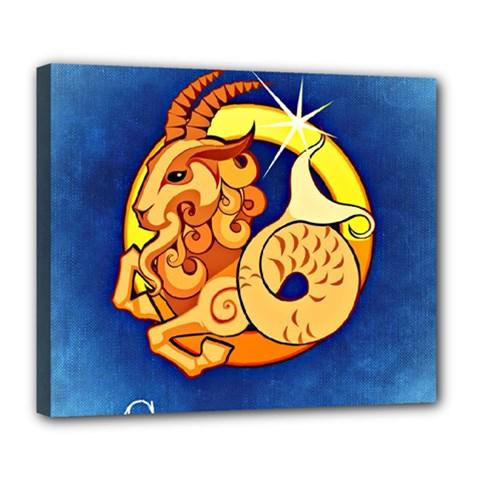 Zodiac Capricorn Deluxe Canvas 24  x 20