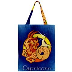 Zodiac Capricorn Zipper Classic Tote Bag