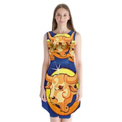Zodiac Taurus Sleeveless Chiffon Dress