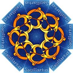 Zodiac Sagittarius Straight Umbrellas