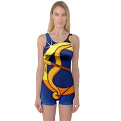 Zodiac Sagittarius One Piece Boyleg Swimsuit
