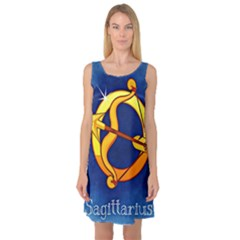 Zodiac Sagittarius Sleeveless Satin Nightdress