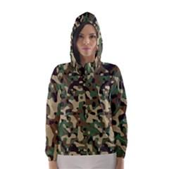 Army Camouflage Hooded Wind Breaker (Women)