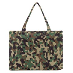 Army Camouflage Medium Zipper Tote Bag