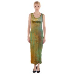 The WaterFall Fitted Maxi Dress