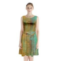 The Waterfall Sleeveless Chiffon Waist Tie Dress
